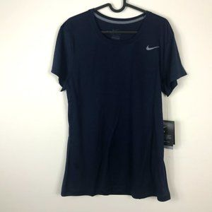 Nike Navy Blue Dry Fit Shirt NWT Large